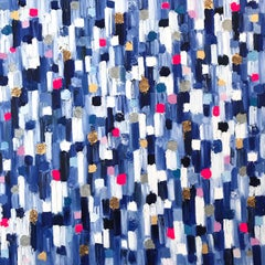 """""""Dripping Dots - Monaco"""" Colorful Contemporary Abstract Oil Painting on Canvas"""