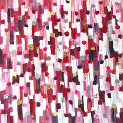"""""""Dripping Dots - Monaco Sunset"""" Contemporary Abstract Oil Painting on Canvas"""