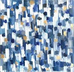 """Dripping Dots Montclair"" Colorful Contemporary Abstract Oil Painting on Canvas"