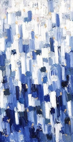 """""""Dripping Dots - Montclair"""" Colorful Contemporary Abstract Painting on Canvas"""