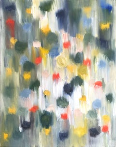 """Dripping Dots - Palm Springs"" Colorful Abstract Oil Painting on Canvas"