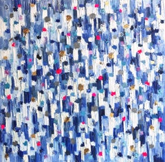 """Dripping Dots - Palma"" Colorful Abstract Oil Painting on Canvas"