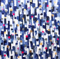"""Dripping Dots - Palmaria"" Colorful Contemporary Abstract Oil Painting on Canvas"