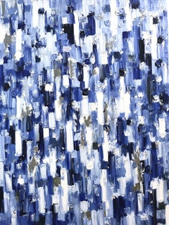 """""""Dripping Dots - Regency"""" Colorful Abstract Oil Painting on Canvas"""