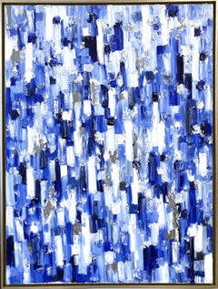 """""""Dripping Dots - Regency"""" Contemporary Colorful Abstract Oil Painting on Canvas"""
