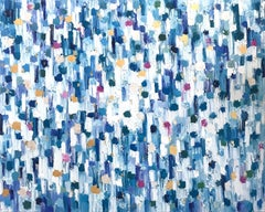 Dripping Dots, Saint-Tropez, Colorful Abstract, Oil Painting