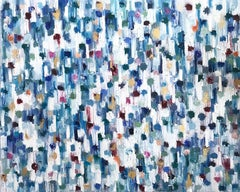 Dripping Dots - Singapore, Colorful, Abstract, Oil Painting