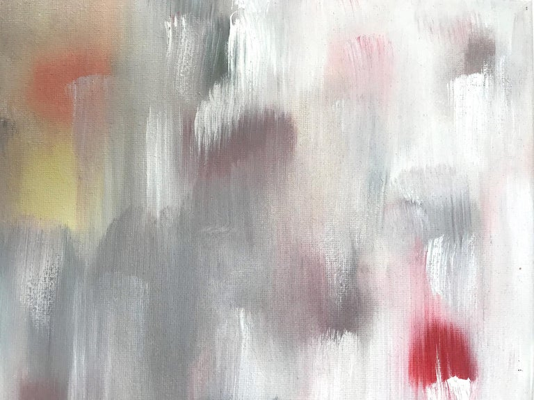 With layers of bright oils and whisking brush strokes, the paint is able to shine and shimmer in a very unique pattern. The artist uses textured oils to add a very contemporary, urban feel. The way the paint blends and washes into other colors give