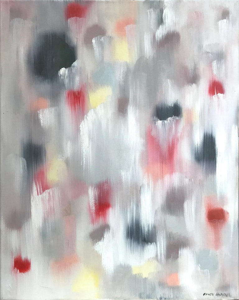 """Cindy Shaoul Abstract Painting - """"Dripping Dots - Sicily"""" Colorful Contemporary Oil Painting on Canvas"""