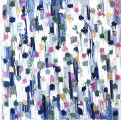 """""""Dripping Dots - Springtime in Rome"""" Colorful Abstract Oil Painting on Canvas"""