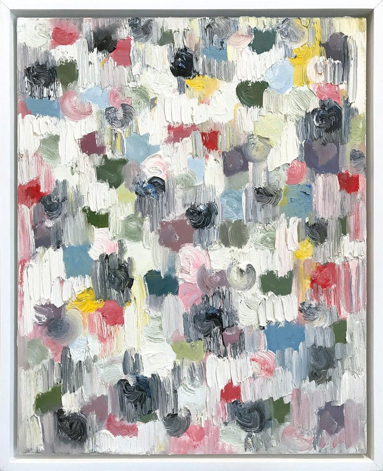 Cindy Shaoul Abstract Painting - Dripping Dots, Springtime in Rome