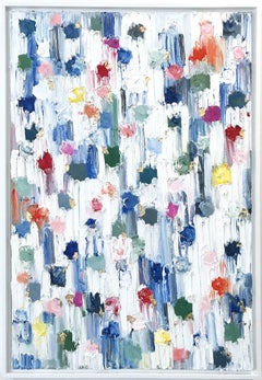 """""""Dripping Dots - St. Barts"""" Colorful Contemporary Abstract Painting on Canvas"""
