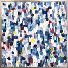 Dripping Dots, The Maldives, Colorful, Abstract, Oil Painting