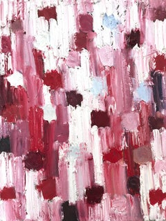 """""""Dripping Dots - Venice"""" Colorful Abstract Oil Painting on Canvas"""