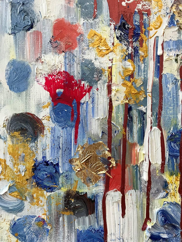 Dripping Dots, Havana - Contemporary Painting by Cindy Shaoul