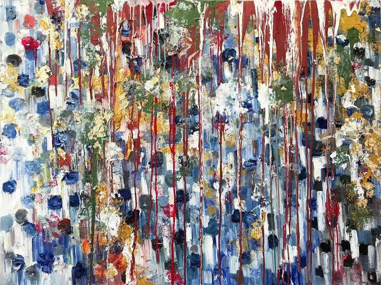 Cindy Shaoul Abstract Painting - Dripping Dots, Havana