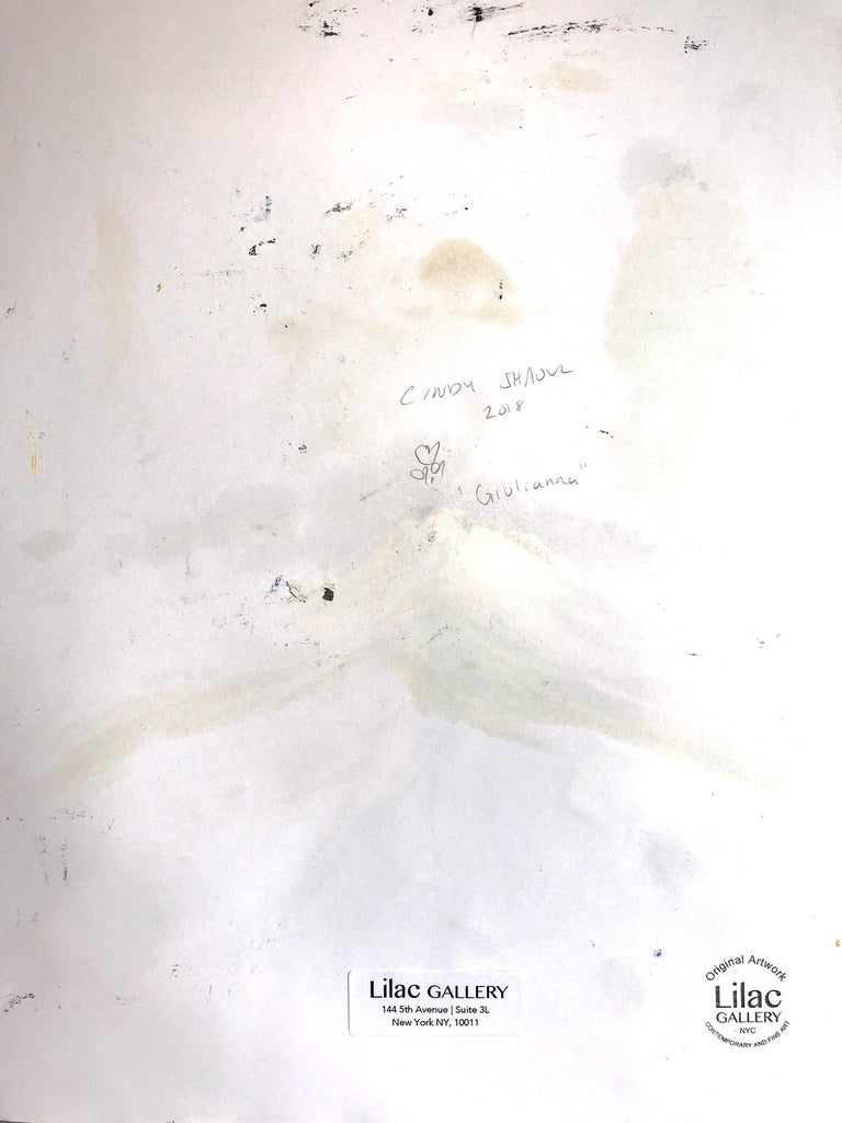 Giulianna, Abstract Figure on Paper 7
