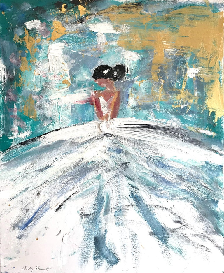 Cindy Shaoul Figurative Painting - Giulianna, Abstract Figure on Paper