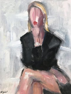 """Heather Rae Young"" Figure wearing Chanel by Portrait Oil Painting on Paper"