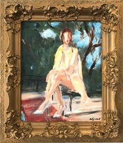 """""""Here Comes the Sun"""" Impressionistic Oil Painting of a Lily J. Collins in Chanel"""