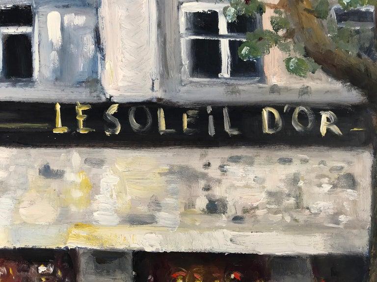 Le Soleil D'Or, Paris, Impressionist Street Scene 4