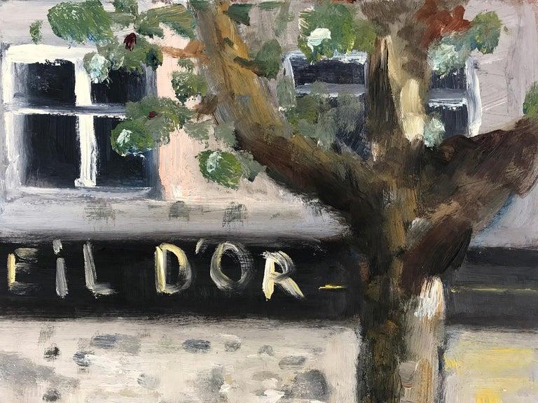 Le Soleil D'Or, Paris, Impressionist Street Scene 6