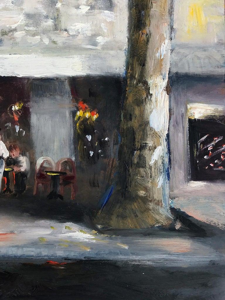 Le Soleil D'Or, Paris, Impressionist Street Scene 7
