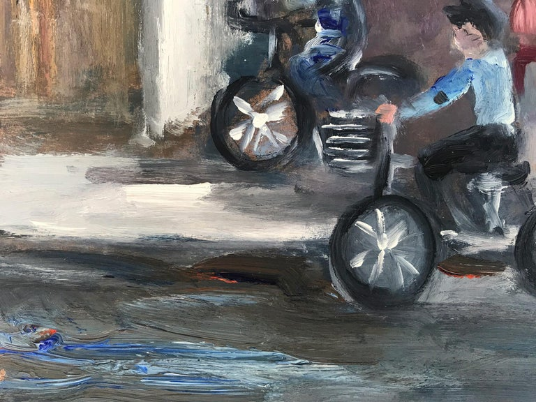 Le Soleil D'Or, Paris, Impressionist Street Scene 8