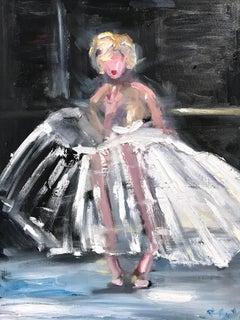 """""""Marilyn Ballerina"""" Iconic Marilyn Monroe Ballerina Oil Painting on Canvas"""