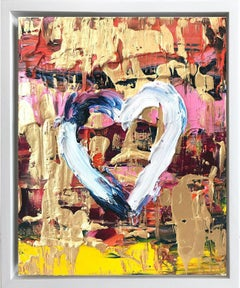 """""""My Candy Heart"""" Contemporary Oil Painting Framed with Floater Frame"""