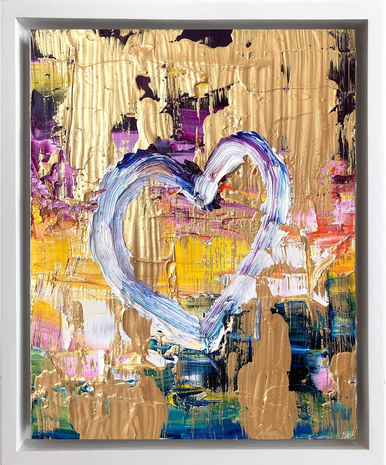 """Cindy Shaoul Figurative Painting - """"My Free at Heart"""" Contemporary Oil Painting Framed w Floater Frame"""
