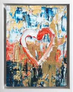 """""""My Frosted Heart"""" Contemporary Oil Painting Framed w Floater Frame"""