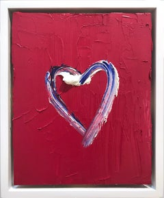 """""""My Heart in Rose"""" Contemporary Oil Painting Framed w Floater Frame"""
