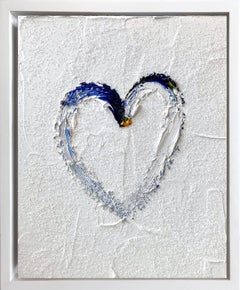"""My Heart on Diamond Ice"" Contemporary Oil Painting Framed with Floater Frame"