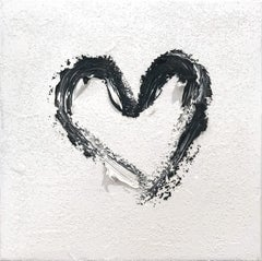 """""""My Heart on White Diamond"""" Contemporary Oil Painting with Diamond Dust"""