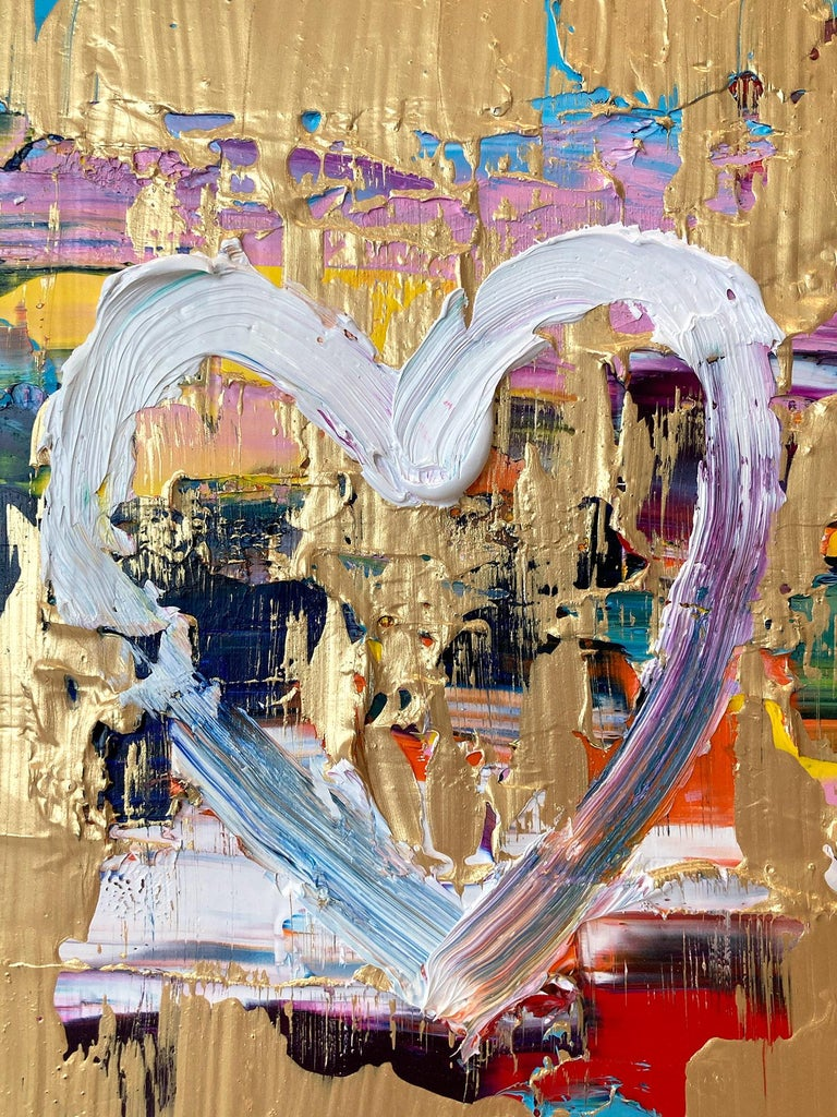 """Motivated by bold color and fast brushwork, we are moved by the simplicity and thick textured oil paints in these works. Shaoul's """"My Heart Collection"""" is a vibrant and energetic display of love encapsulated in these miniature hearts, leaving us"""