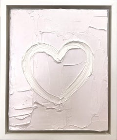 """My Weightless Heart"" Light Lavender Contemporary Oil Painting w Floater Frame"