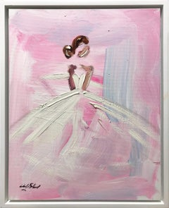 """""""Paris is Always a Good Idea"""" Chanel French Haute Couture Oil Painting on Canvas"""