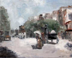 Paris Street Scene, Impressionist oil Painting