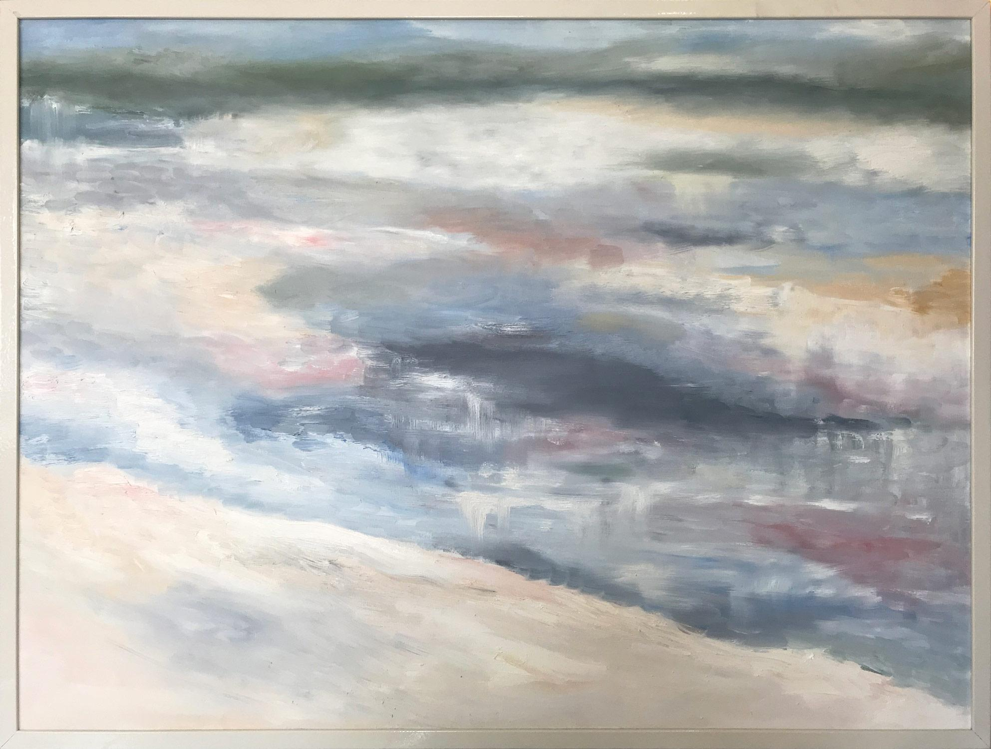 """""""Sea Shore No.1"""" Contemporary Abstract Landscape Oil Painting on Canvas"""