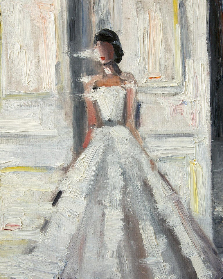 Stepping Out, Le Château - Painting by Cindy Shaoul
