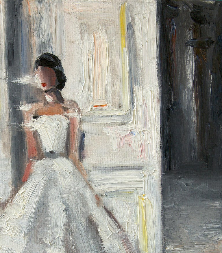 Stepping Out, Le Château - Contemporary Painting by Cindy Shaoul