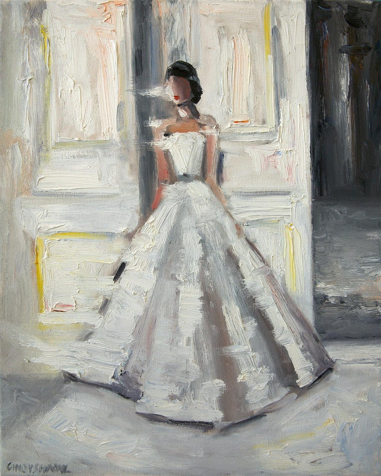 Cindy Shaoul Figurative Painting - Stepping Out, Le Château