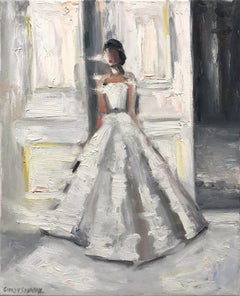 """Stepping Out - Le Château"" Paris Fashion Impressionistic Oil Painting on Canvas"