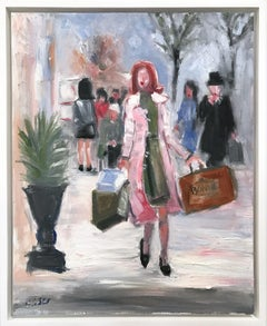 """The Queens Gambit"" New York City Fashion Impressionistic Oil Painting on Canvas"