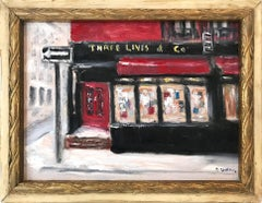 """Three Lives & Co"" Impressionist Plein Air Oil Painting in Greenwich Village"