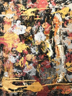 """""""Through it All"""" Colorful Contemporary Oil and Mixed Media Painting on Canvas"""