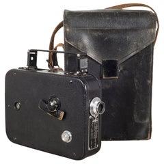 Cine-Kodak Movie Camera and Leather Case, circa 1950