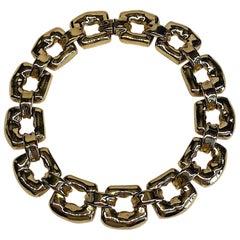 Ciner 1980s Large Link Gold Necklace
