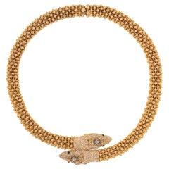 CINER Caviar Snake Necklace